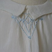 REDUCED Very Early Hand Made Sheer Dress