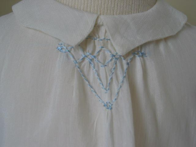 Very Early Hand Made Sheer Dress