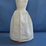 Early Half Slip Petticoat For Fashion Doll  Circa 1920's