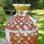 SOLD Milk Glass Pineapple Covered Dish Vallerysthal 1880's