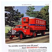 1948 Ads - DIAMOND T TRUCKS - 'An enviable record for over 25 years' / Youngstown Kitchens (on