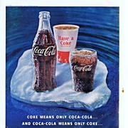 1960 Ad - Coca-Cola COKE - 'Ice Floe'