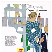1958 Ad - PEPSI-COLA - 'Sitting pretty...'