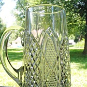 Duncan & Miller Scalloped Six Points Pitcher Jug EAPG