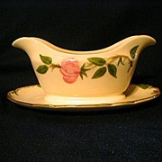 SALE Franciscan Desert Rose Gravy with Attached Underplate Made in USA