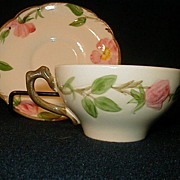 SALE Franciscan Desert Rose Coffee Tea Cups and Saucers Made in USA