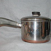 Revere Ware Stainless Steel Copper Clad Bottom 2 QT Pot Pan