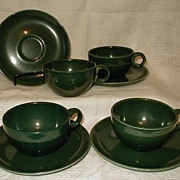 Russel Wright Iroquois Casual China Parsley 4 cups & 4 saucers