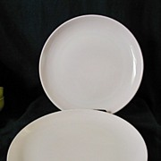 Russel Wright Pink Sherbet 2 - Dinner Plates Iroquois Casual China