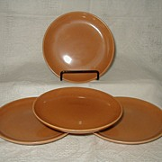Russel Wright Ripe Apricot Bread & Butter Plates Iroquois Casual China