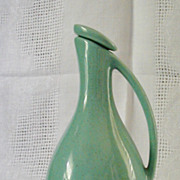 SALE Mid Century Modern Pottery Creamer with Lid