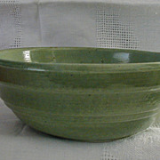 Mountainside Pottery Green Ringed Bowl New Jersey