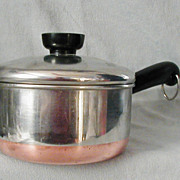 Vintage Revere Ware 1 Qt Copper Clad Bottom Pan Clinton Illinois