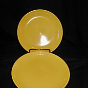 Russel Wright Avocado Yellow Salad Dessert Plates Iroquois Casual China