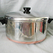 SALE PENDING Revere Ware Stainless Steel Copper Clad Bottom 6 QT Dutch Oven Stock Pot