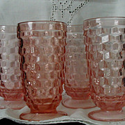 Indiana American Whitehall Pink Peach 4 - Ice Tea Water Glasses