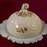 "SALE Northwood ""Louis XV"" Custard Butter Dish"