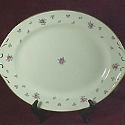 "SALE Homer Laughlin ""Rambler Rose"" Oval 13 1/2"" Platter"
