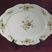 SALE Johann Haviland Moss Rose Oval Platter - 12 3/4""