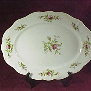 SALE Johann Haviland Moss Rose Large Meat Platter - 14 3/4""