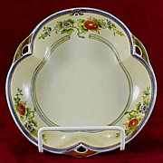 SALE Noritake 3-Lobed Hand-Painted Serving Bowl - Early 1900s