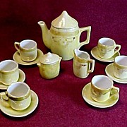 SALE Child's Tea Set, Iridescent Lusterware, Made in Germany