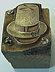 German Printer's Block/Letterman Press for Stovepipe Party Hat