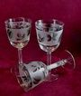 Libbey Silver Leaf Wine Goblets - 1960s