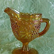 "SALE Imperial's Rubigold ""Grape"" Footed Creamer #831"
