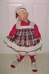 "1983 Annalee Mobiltree 29-30"" Mrs. Santa With Plaid Outfit"