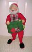 "1983 Annalee Mobiltree 28-30"" Santa With Vest and Green Burlap Sack"