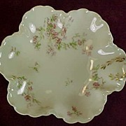 SALE Haviland-Limoges 6-Lobed Bowl w/Pink Blossoms