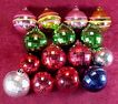 Plastic Christmas Ornaments w/Disco Ball Look - Used on Aluminum Trees