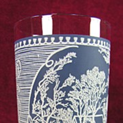 SALE Royal China Currier & Ives (Blue) 12 oz. Tumbler w/Blue Background (9 available)