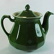 "SOLD Hall China ""Buchanan"" Teapot in Forest Green"