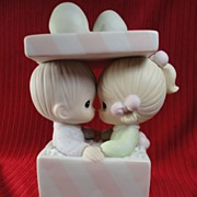 "SALE Enesco Precious Moments ""Our First Christmas Together"" 1986, Music Box"