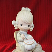 "SALE Enesco, Precious Moments, ""Mother Sew Dear"" - 1979, E3106, Retired"