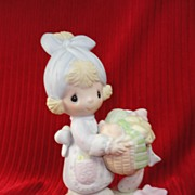 "SALE Enesco's Precious Moments ""Be Not Weary in Well Doing"" - 1979,  Retired 1985."