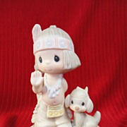 "SALE Enesco's Precious Moments, ""Oh, How I Love Jesus"" E-1380B, 1978"