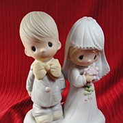 "SALE Enesco's Precious Moments ""The Lord Bless You and Keep You"" Wedding, 1979"