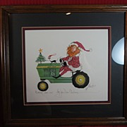 "P. Buckley Moss, ""My John Deere Christmas""  Signed, Numbered"