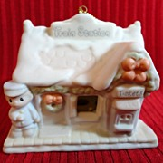 SALE Enesco Precious Moments Sugar Town, Train Station Ornament