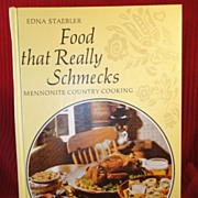 "SALE ""Food That Really Schmecks"" by Edna Staebler, 1968, 1st Ed."