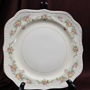 "Homer Laughlin Eggshell Georgian, ""Countess"" Square Salad/Luncheon Plate"