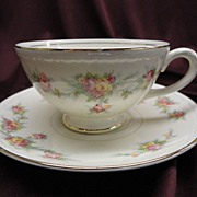 "Homer Laughlin Eggshell Georgian #HLC G3432 ""Countess"" Cup and Saucer (6 sets availa"