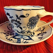 "Lipper & Mann ""Blue Danube"" Cup and Saucer Set (3 available)"