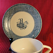 Royal China Currier & Ives Cup and Saucer Set (25 available)
