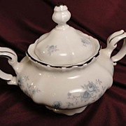 Johann Haviland &quot;Blue Garland&quot; Sugar Bowl and Lid