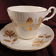 Staffordshire Fine Bone China Cup and Saucer Set