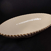 "Lenox Ivory Fluted 13"" Oval Serving Bowl"
